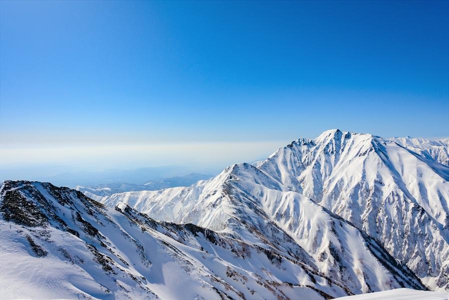 唐松岳山頂からの景色